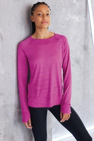Purple Long Sleeve Sports Top