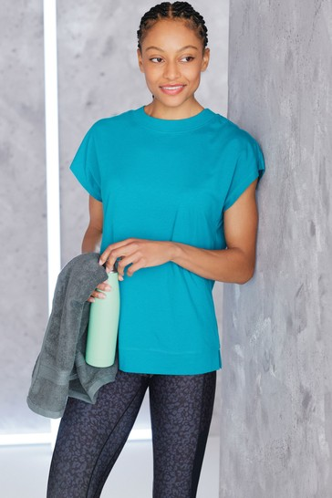 Teal Cap Sleeve Sports T-Shirt