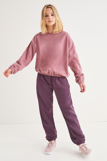 Pink Crew And Joggers Set (3-16yrs)