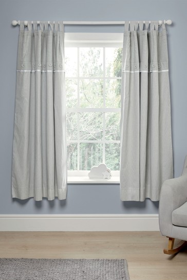 Mamas & Papas Grey Welcome to the World Elephant Blackout Curtains