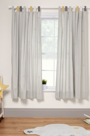 Mamas & Papas Grey Dream Upon a Cloud Curtains