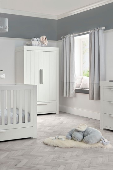 3 Piece Mamas & Papas Franklin Cot Bed Range with Dresser and Wardrobe