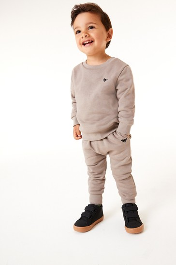 Putty Stone Crew and Joggers Jersey Set (3mths-7yrs)