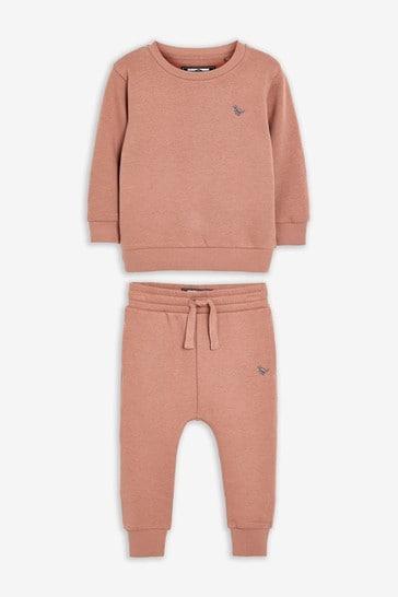 Blush Pink Sweatshirt and Joggers Jersey Set (3mths-7yrs)