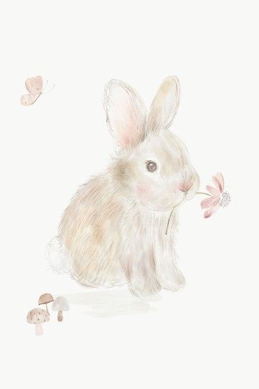 Mamas & Papas Welcome to the World Floral Bunny Picture