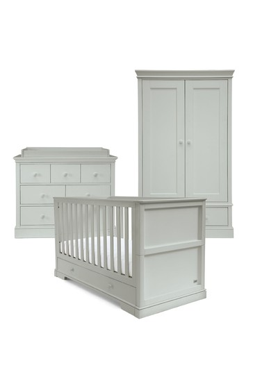 3 Piece Mamas & Papas Oxford Cot Bed Range with Dresser and Wardrobe