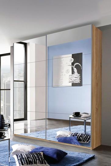 Cameron 1.81m Glass Sliding Wardrobe By Rauch