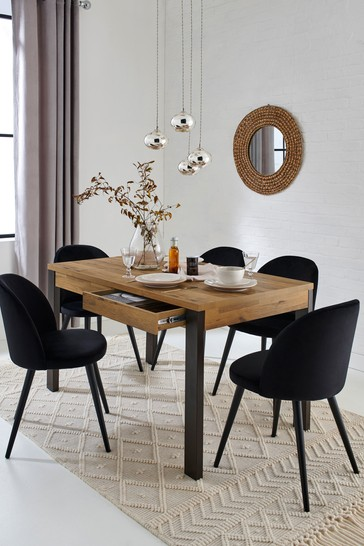 Bronx Oak Effect 6 Seater Storage Dining Table
