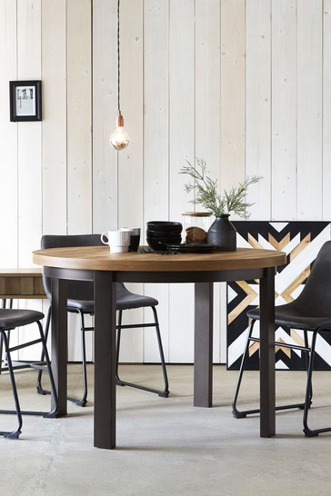 Bronx 4 Seater Round Dining Table
