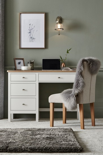 Hampton Country Luxe Painted Oak Dressing Table / Desk