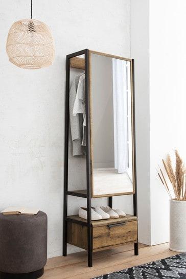 Bronx Storage Mirror With Hanging Rail