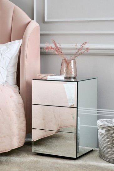 Sloane Mirrored 3 Drawer Bedside Chest