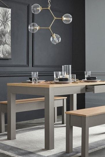 Malvern Dove Grey Storage 6 Seater Dining Table