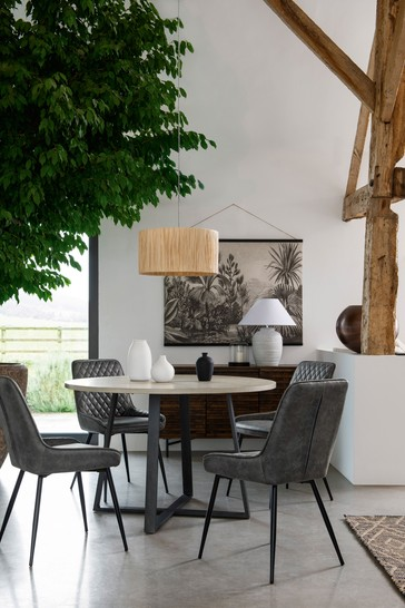 Alma 4 Seater Round Dining Table