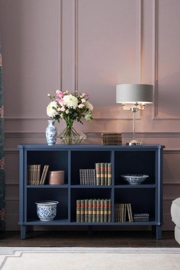 Henshaw Dusky Seaspray Low Bookcase by Laura Ashley