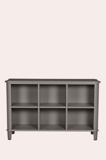 Henshaw Pale Charcoal Low Bookcase by Laura Ashley