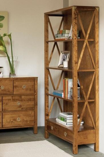 Balmoral Honey 2 Drawer Single Bookcase by Laura Ashley