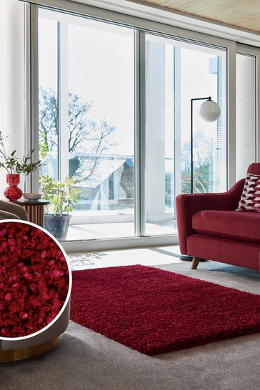Red Premium Cosy Shaggy Rug