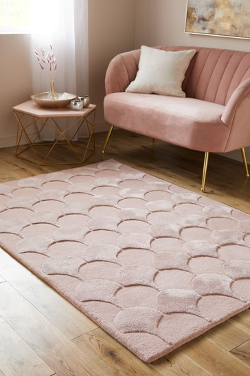 Blush Pink Feather Rug