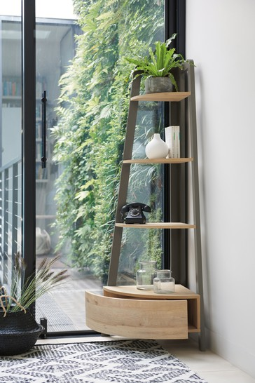Bronx Compact Corner Ladder Shelf
