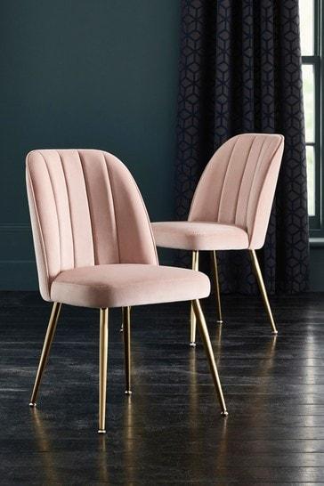 Set of 2 Stella Dining Chairs in Opulent Velvet