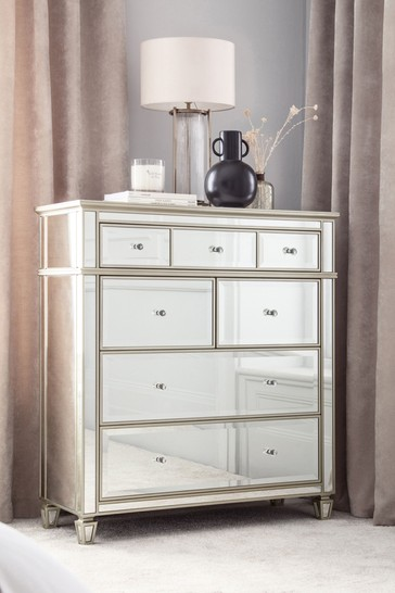 Fleur Mirrored Chest of Drawers