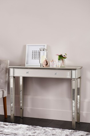 Fleur Mirrored Slim Dressing Table / Desk