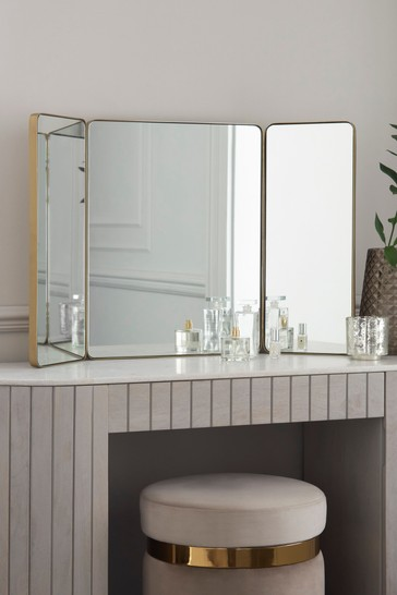 Brass Effect Dressing Table Mirror