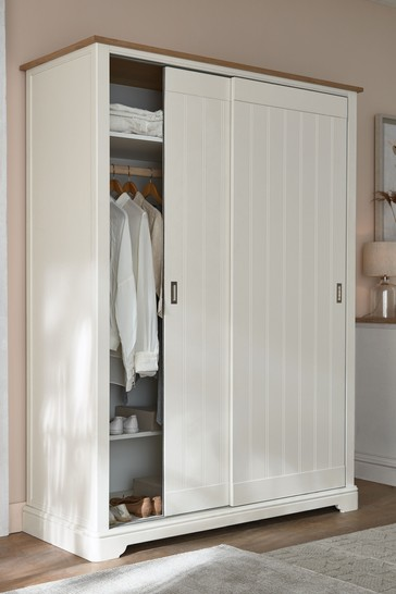 Hampton Country Luxe Painted Oak 1.5m Sliding Wardrobe