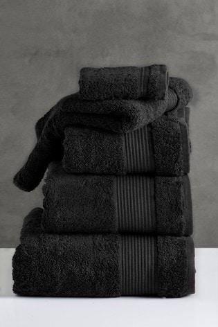 Black Egyptian Cotton Towels