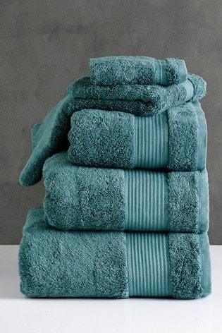 Juniper Green Egyptian Cotton Towels