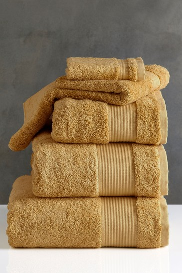 Mustard Yellow Egyptian Cotton Towels