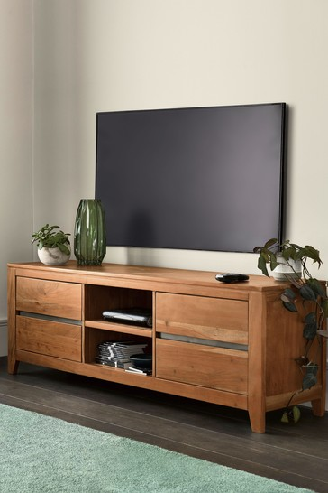 Amsterdam Acacia Wood Wide TV Stand