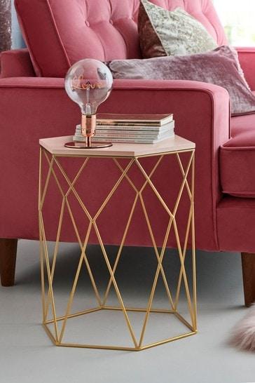 Hexagon Side Table / Bedside