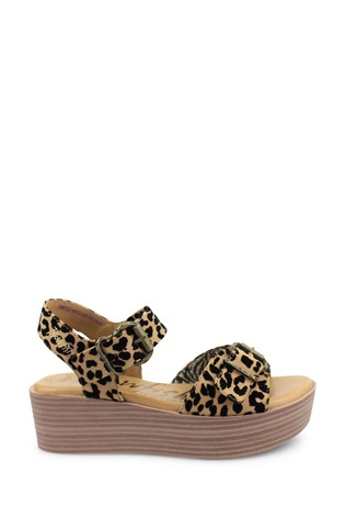 Blowfish Leopard Leeds Flatform Cushioned Sandals