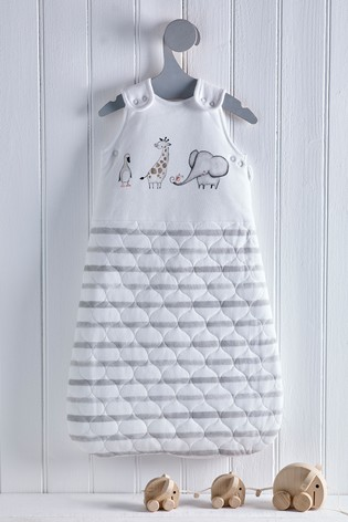 Grey Baby Animals 2.5 Tog Sleep Bag