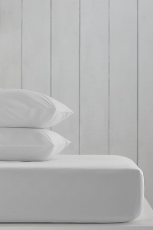 White Cotton Rich Fitted Sheet