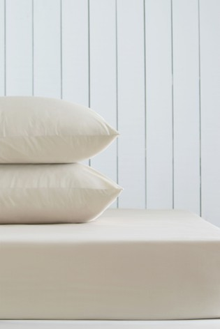 Natural Cotton Rich Fitted Sheet