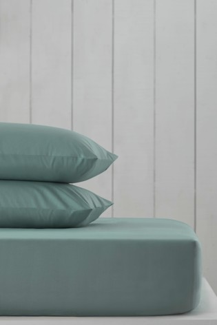 Sage Green Cotton Rich Fitted Sheet