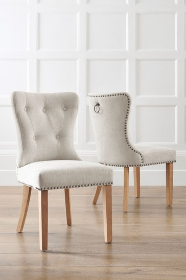 Set Of 2 Blair Dining Chairs With Natural Legs