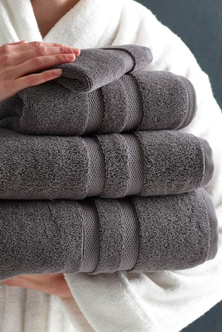 Charcoal Grey Luxury Pure Cotton Towel