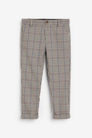 Check Slim Fit Stretch Chino Trousers (3-16yrs)