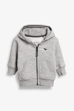 Grey Marl Essential Zip Through Hoodie (3mths-7yrs)