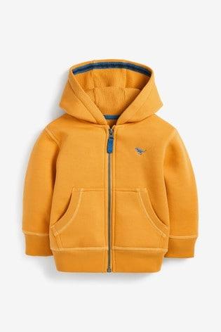 Yellow Essential Zip Through Hoodie (3mths-7yrs)
