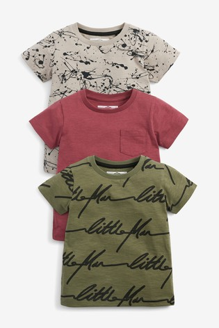 Splat 3 Pack All Over Print T-Shirts (3mths-7yrs)