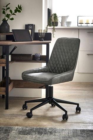Hamilton Office Desk Chair with Black Base