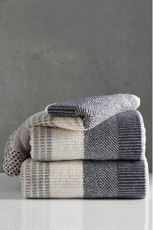 Natural Stripe Egyptian Cotton Towels