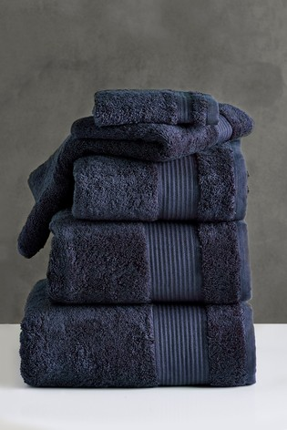 Navy Blue Egyptian Cotton Towels