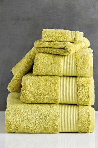 Lime Green Egyptian Cotton Towels