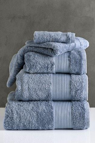 Slate Blue Egyptian Cotton Towels